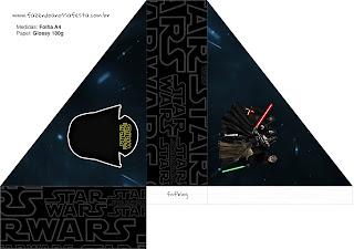 Sombreros para Imprimir Gratis de Star Wars.