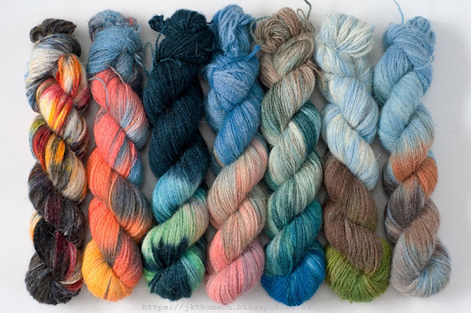 North Ronaldsay hand-dyes