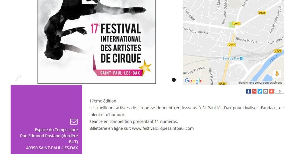 Burguscircus le 17e festival international des artistes - Office du tourisme saint paul les dax ...