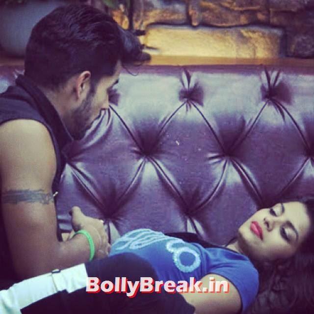 sonali writes on the sofa and tells guatam , sonali raut bigg boss 8 Photos