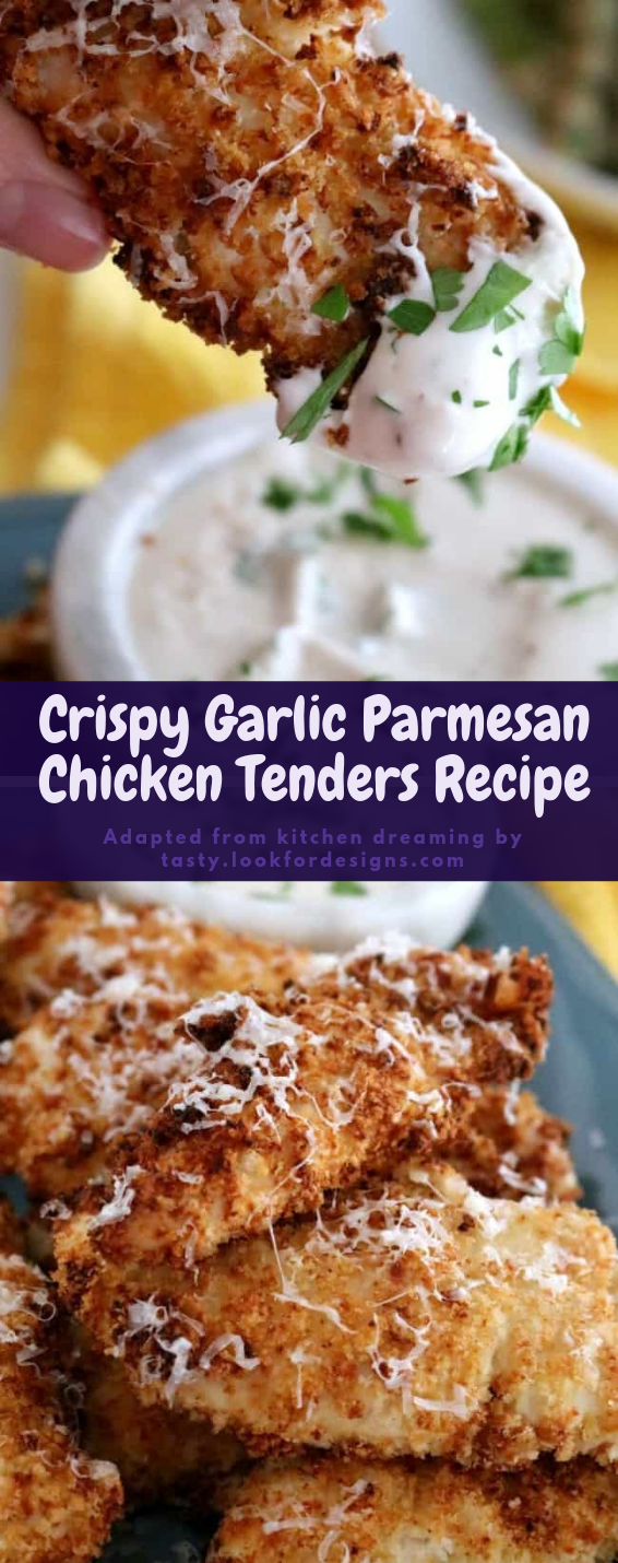 Crispy Garlic Parmesan Chicken Tenders Recipe