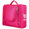 Hanging Toiletry Bag for Makeup & Cosmetic -Travel Toiletries Organizer ( Pink )