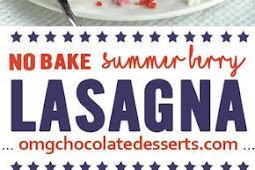 No Bake Summer Berry Lasagna