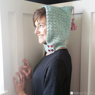 Petrichor Hood Free Crochet Pattern by Susan Carlson of Felted Button