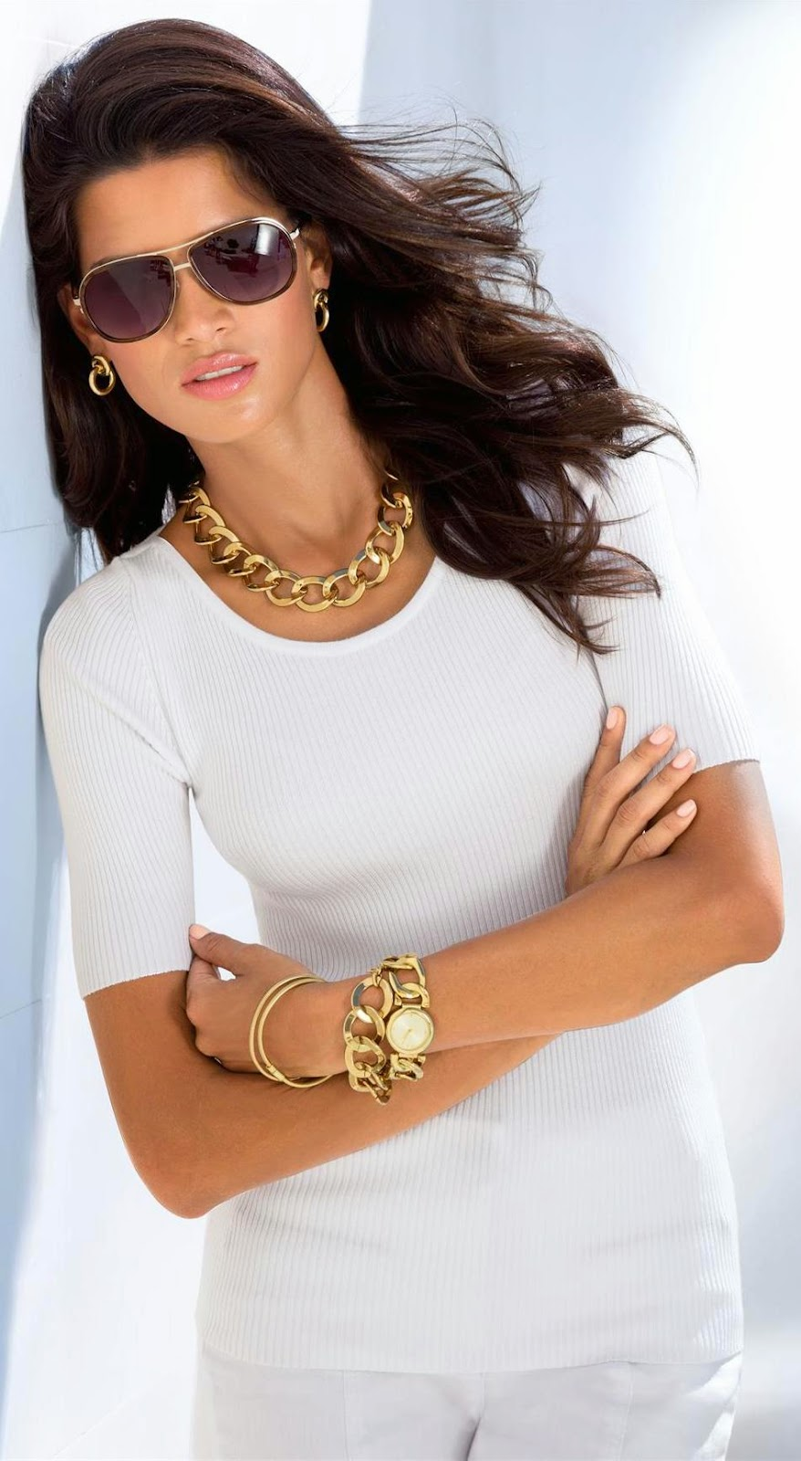 Madeleine Short Sleeve Sweater White