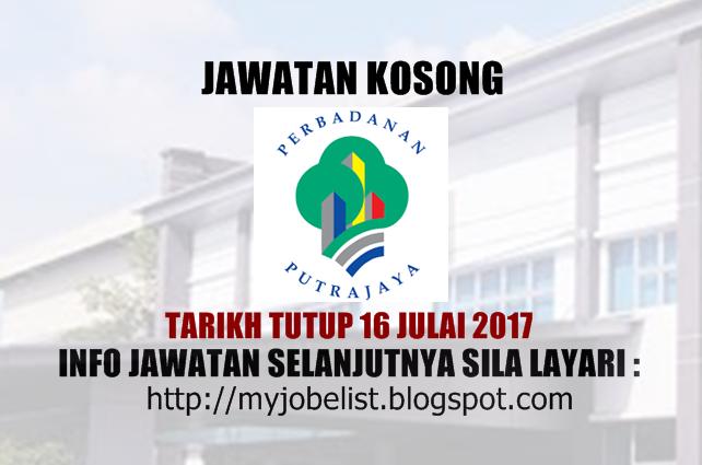Jawatan Kosong di Perbadanan Putrajaya (PPj) Julai 2017