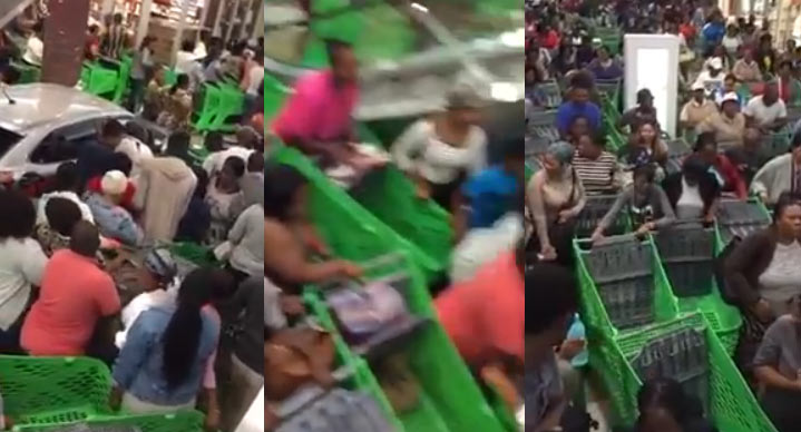 Check out the scene of Black Friday shopping at a South African supermarket