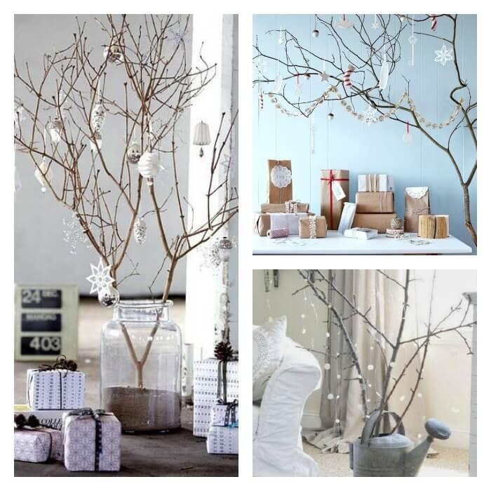 ideas de árboles de navidad con ramas secas