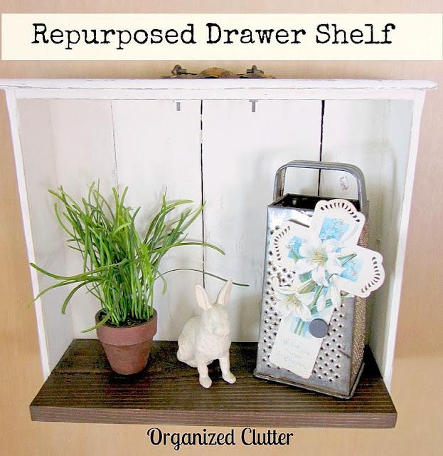 A Repurposed Drawer Shelf