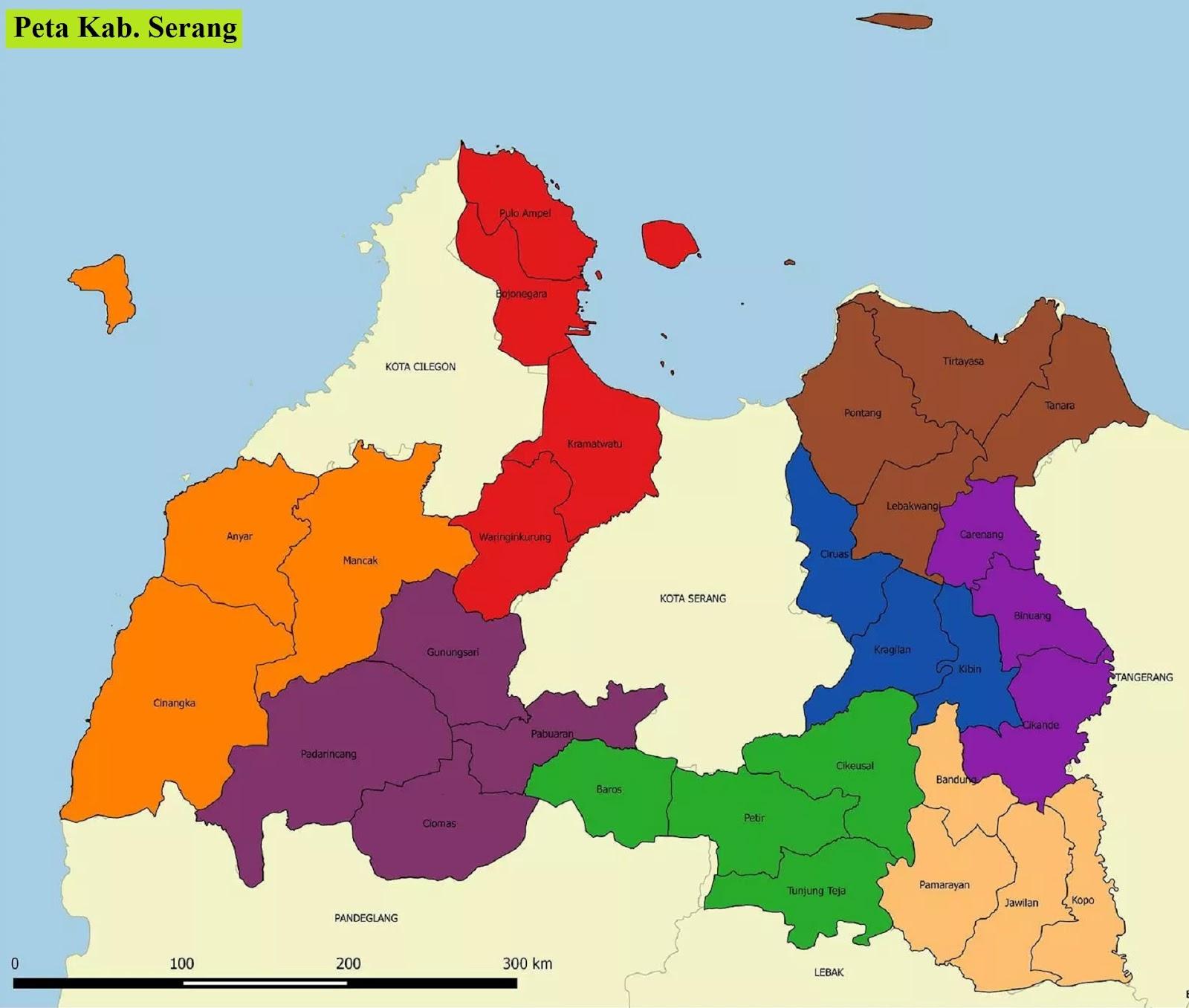 Peta Kabupaten Serang