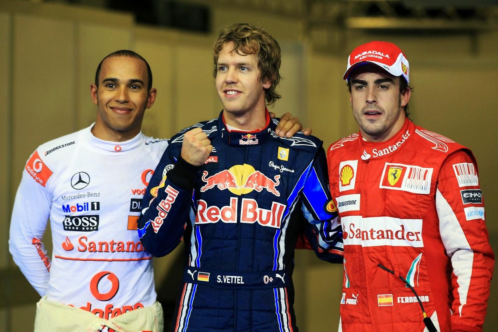 Vettel, Hamilton yFernando Alonso
