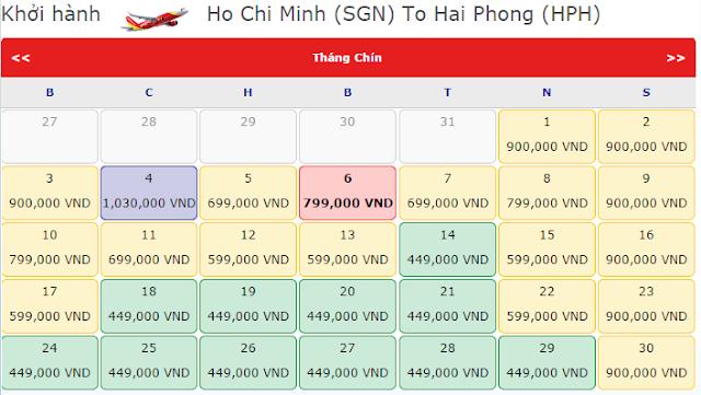 Vé máy bay giá rẻ đi Hải Phòng tháng 9