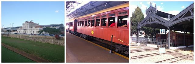 Estação ferroviária de São João del Rei e maria fumaça