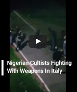 Caught On Video, Nigerian Cultists Fighting With Dangerous Weapon In Italy