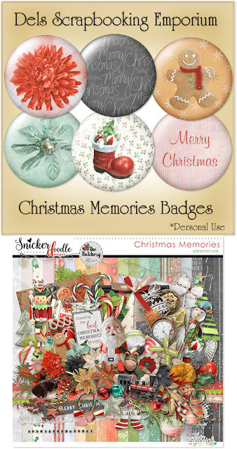 Christmas Memories Badges