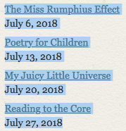 POETRY FRIDAY ROUNDUP-July 2018