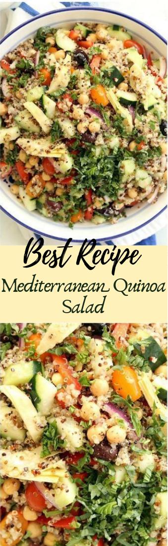 Mediterranean Quinoa Salad #vegan #recipevegetarian