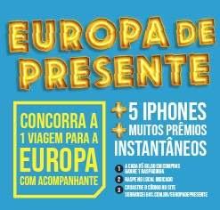 Cadastrar Promoção Sóbrancelhas Europa de Presente Viagem - 5 iPhones e Prêmios