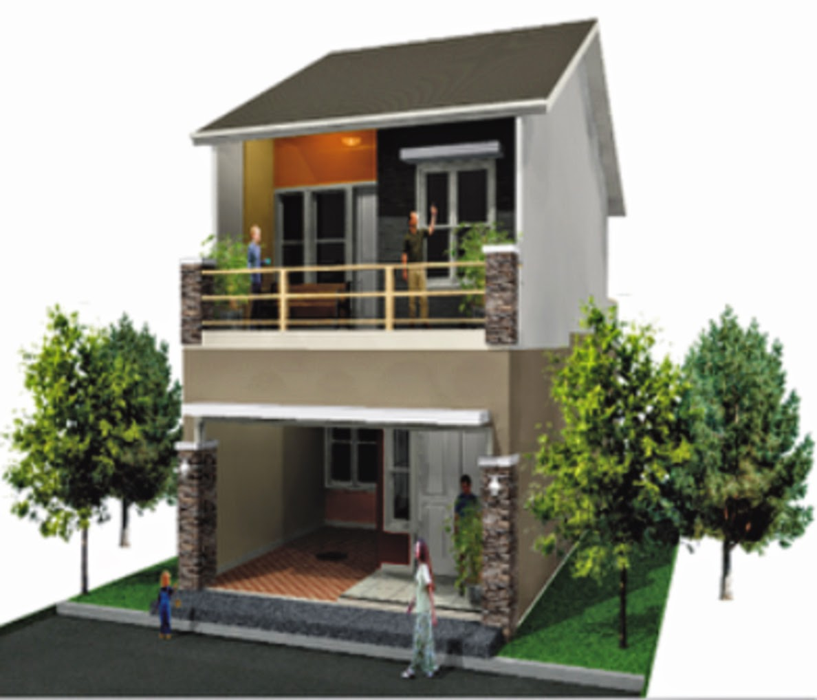 100 Gambar Rumah Minimalis 2 Lantai Sangat Sederhana