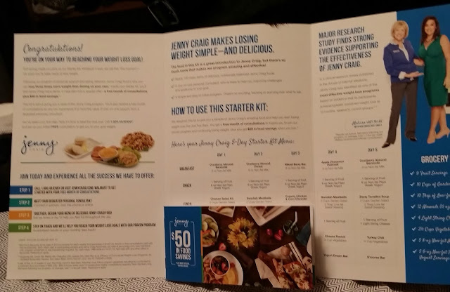 Jenny Craig Instructions and coupon book