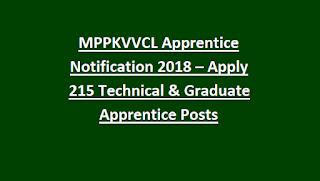MPPKVVCL Apprentice Notification 2018 – Apply 215 Technical & Graduate Apprentice Posts