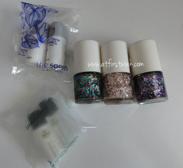 Innisfree Star Sign Nail nail polishes and freebies