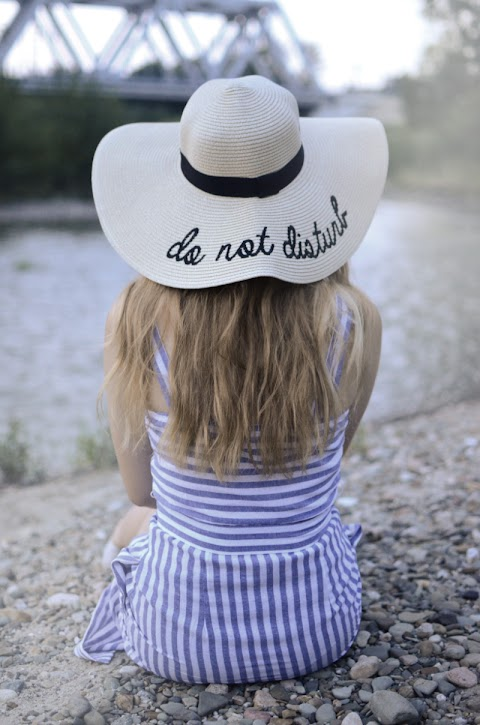 ESPADRILLES | STRIPES DRESS | DO NOT DISTURB HAT