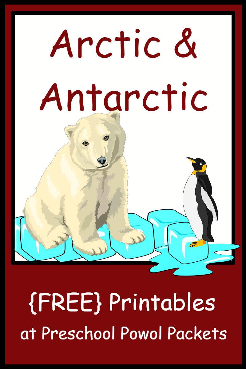 arctic antarctic themed free preschool printables preschool