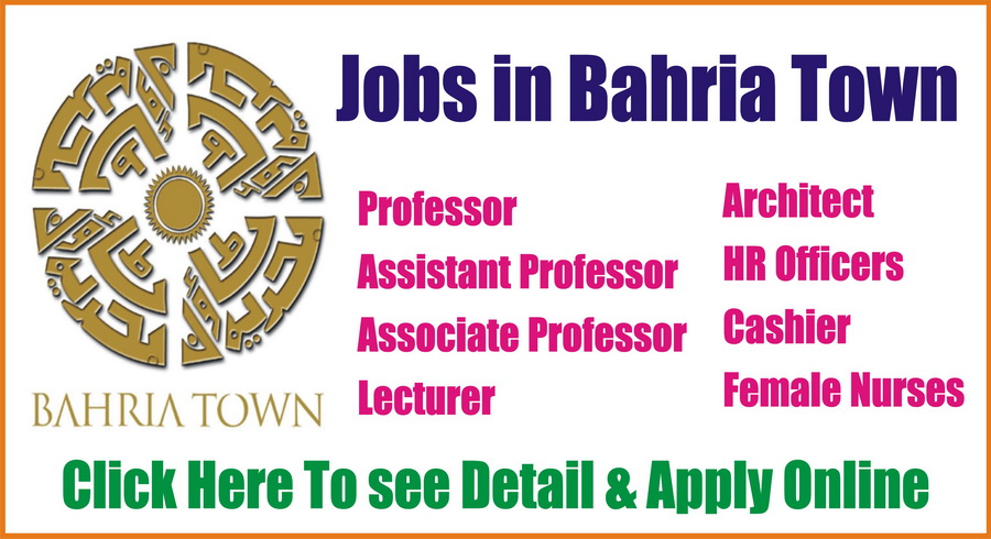 Bahria Town Jobs in Islamabad for different Vacant Posts Apply