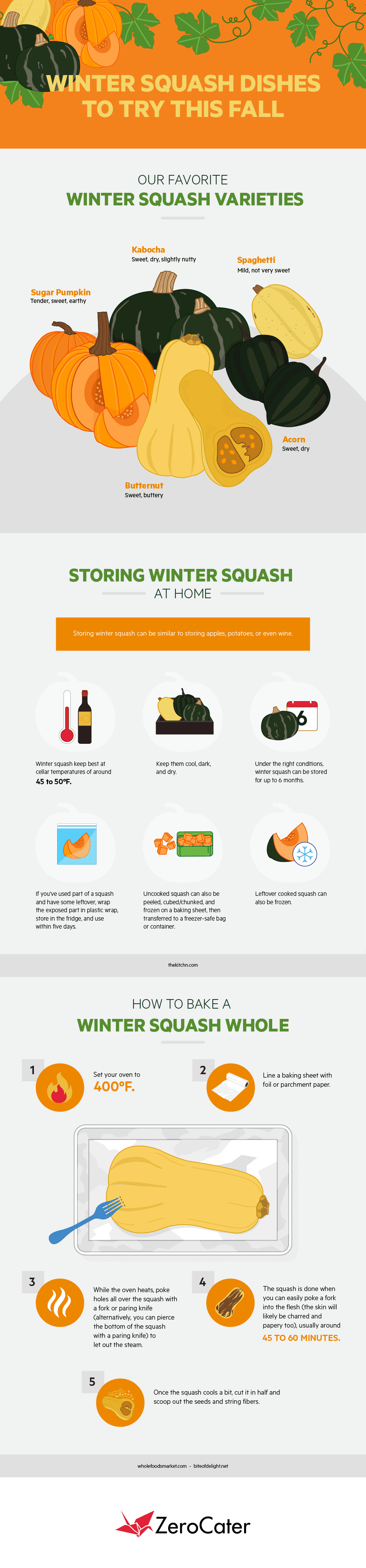 Winter Squash Dishes to Try This Fall #infographic