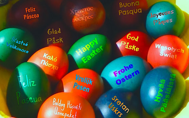 Happy Easter Eggs Languages