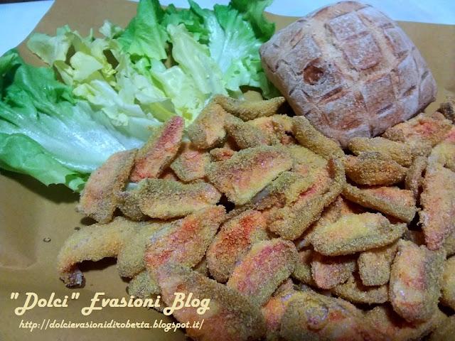 frittura di triglie nella farina di polenta