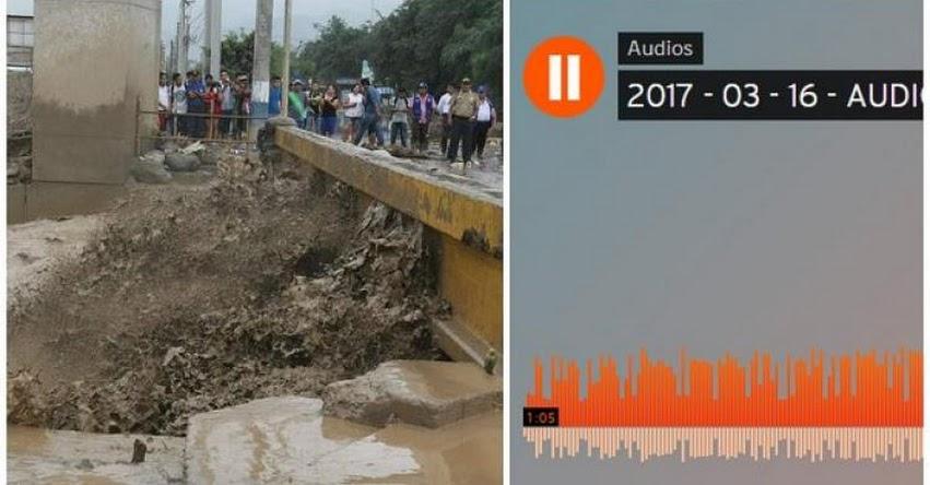 MUCHO CUIDADO: Audio falso sobre huaicos circula en las redes sociales pero debes ignorarlo