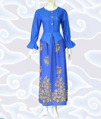 model gamis batik kombinasi modis