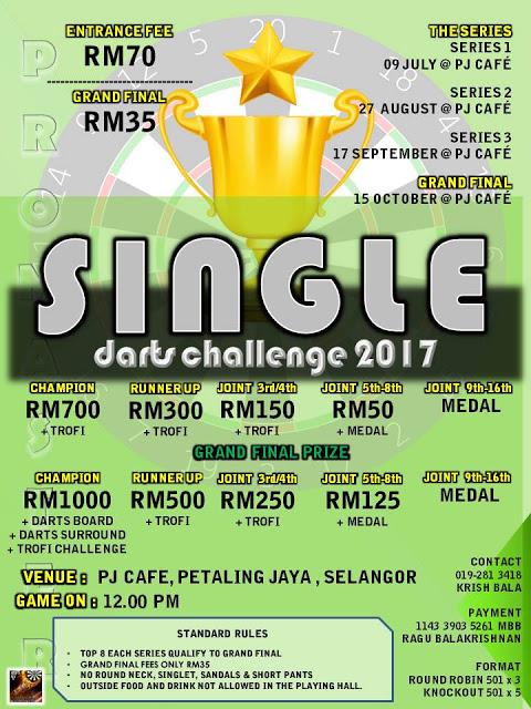 PJ CAFE SINGLE DARTS CHALLENGE 2017