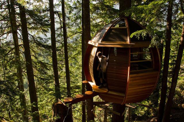 شاهد صور 29 منزل فوق الأشجار سيعجبك أن تعيش بها  Top-29-Treehouses-HemLoft-Photo-by-Joel-Allen-740x490