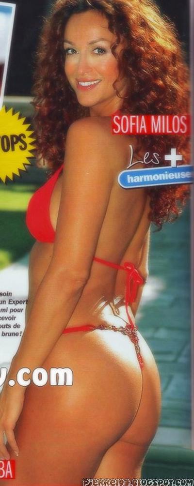 Sofia milos bikini and