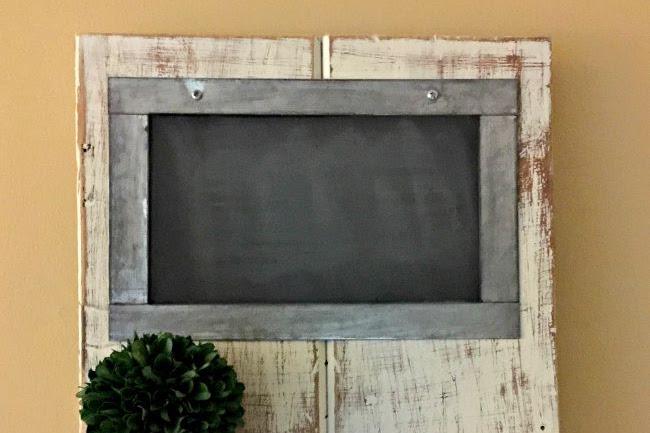 Distressed Chalkboard Shelf