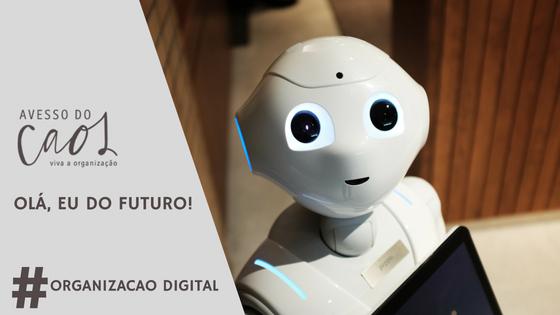Imagem de robô representando uma possível interação presente futuro através de e-mail