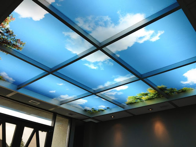 A sky on your ceiling made up of LED panels