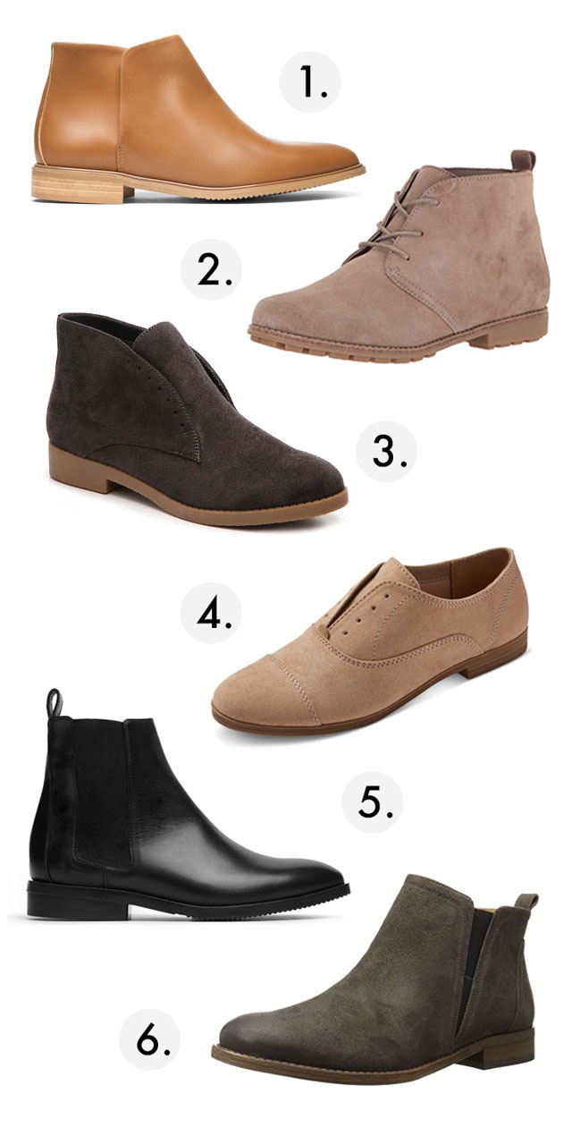 Six boots for the winter bride