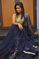 Shilpa Chakravarthy anchor and actress in anarkali dress  Exclusive 006.JPG