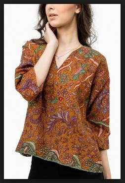 Model baju batik wanita atasan modern untuk pesta