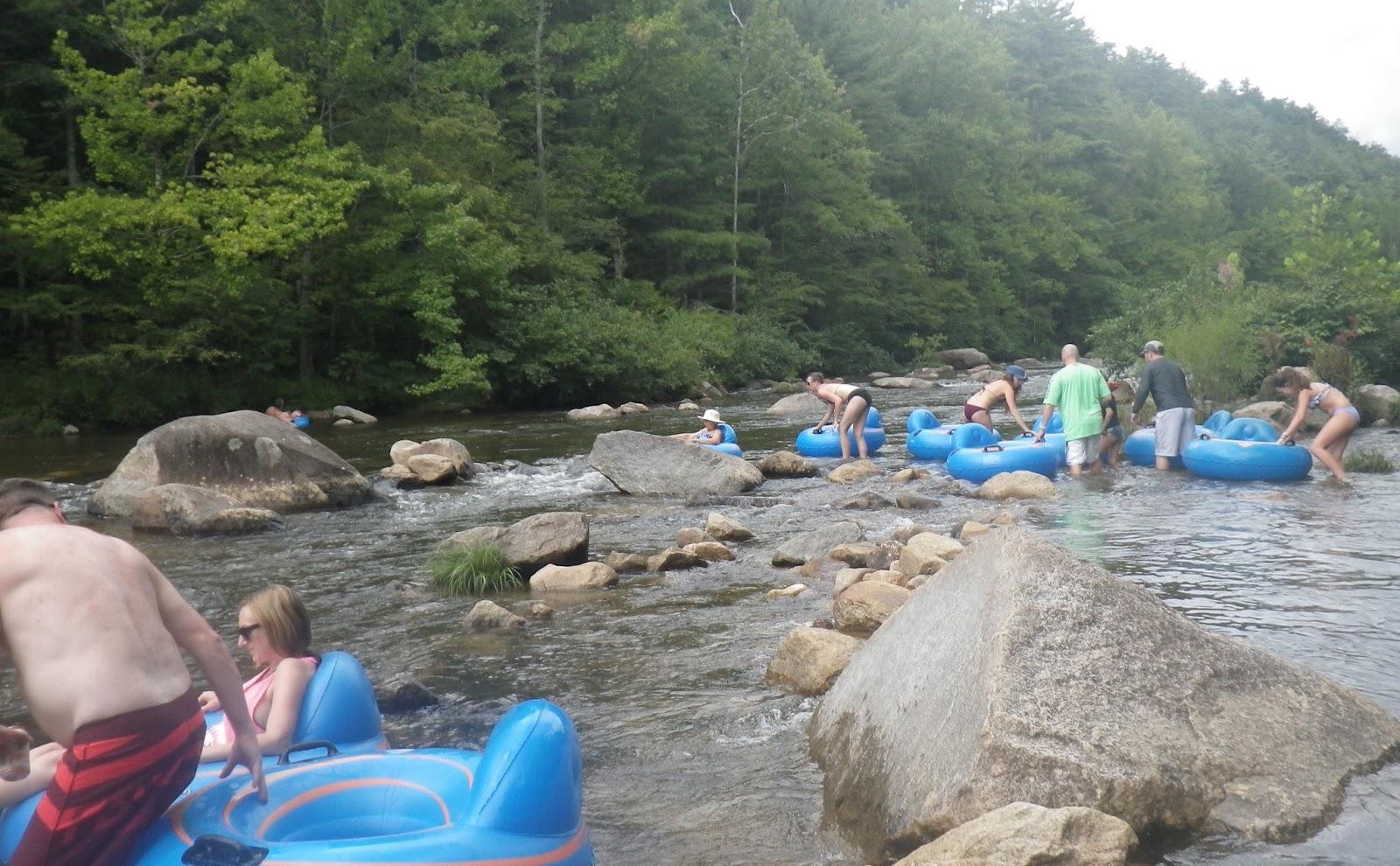 Floating Wilsons Creek At Brown Mountain Beach Resort In Western North Carolina