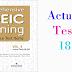 Listening Comprehensive TOEIC Training - Actual Test 18