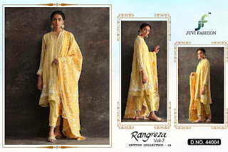juvi fashion Rangreza vol 7 Pakistani Suits Cotton Collection 19