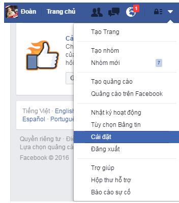 Cach bat nut theo doi facebook nhanh nhat