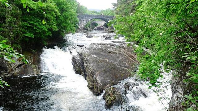 Loch Ness Holiday Lodges and Invermoriston Falls.