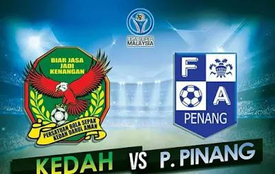 Live Streaming Kedah FA vs Pulau Pinang Liga Super 2017 25 Februari 2017