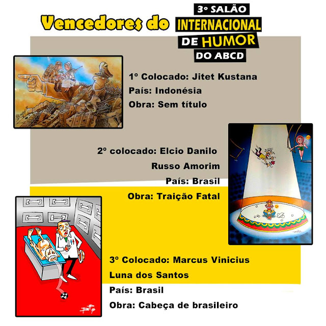 The Winners of 3º ABCD Humor International Saloon, Brazil